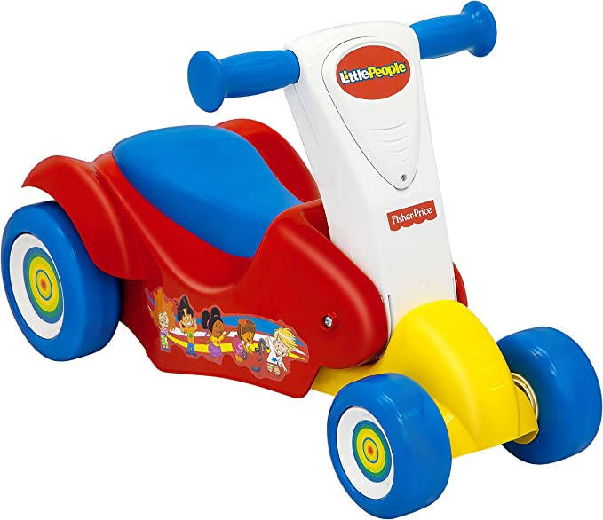 Amazon.com: Fisher-Price Little People Ride 2 Scoot 2-en-1 ...