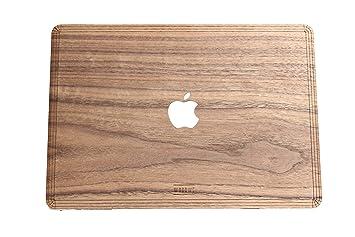 "A1706//A1708//A1989; Finales 2016 WOODWE/® Funda para MacBook Pro 13/"" Touch Bar Edition//Carcasas de Madera Real Medio 2017 Funda Superior Madera de Nogal Natural y aut/éntica"