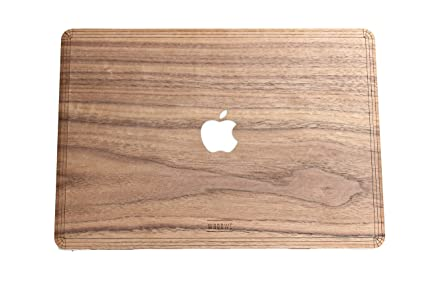 online store ce1cb 3f01b Amazon.com: WOODWE Real Wood MacBook Skin Sticker Decal for Mac Air ...