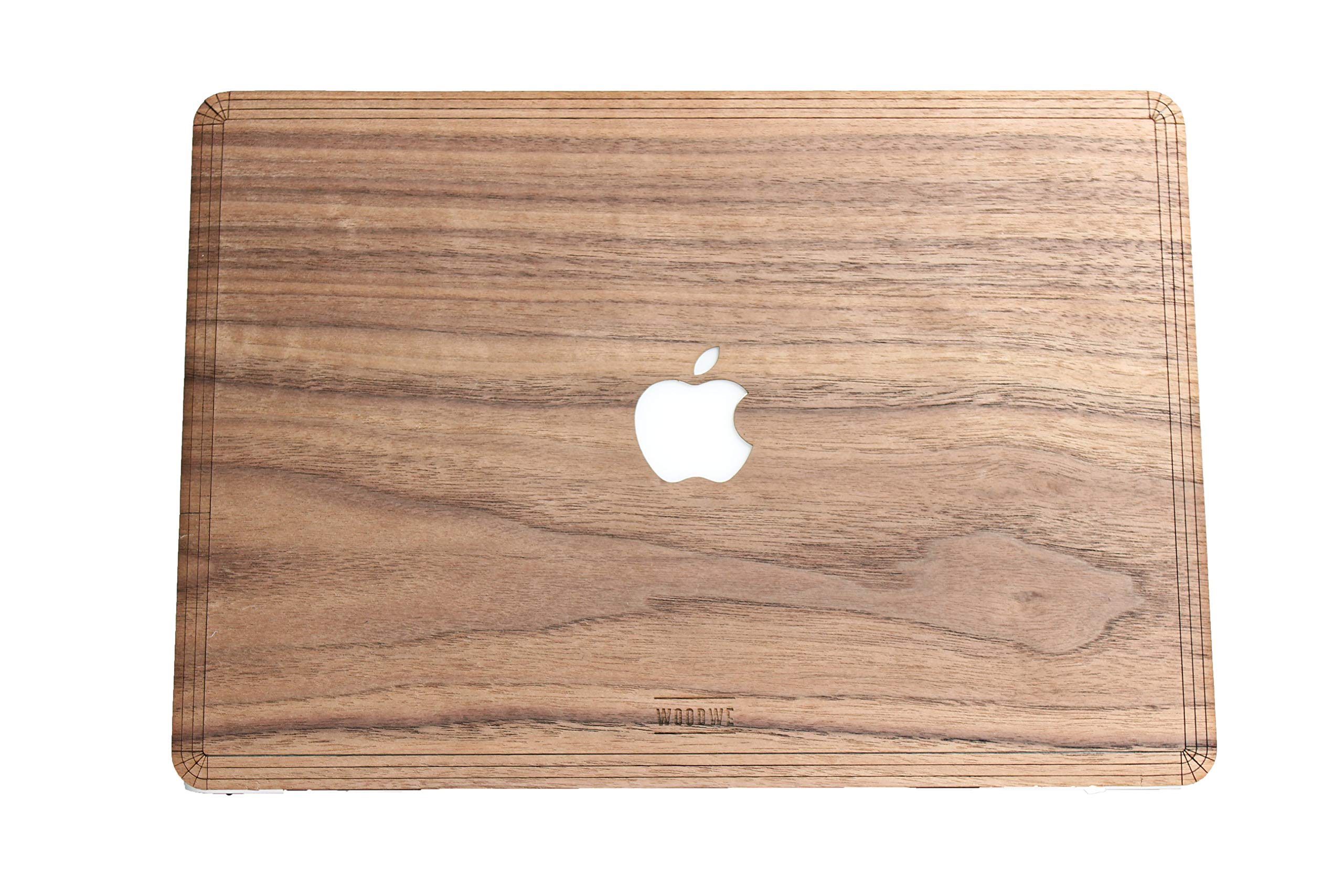 WOODWE Real Wood MacBook Skin Sticker Decal for Mac pro 13 inch Retina Display | Model: A1425/A1502; Late 2012 - Early 2015 | Genuine & Natural Walnut Wood | TOP&Bottom Cover by WOODWE (Image #1)