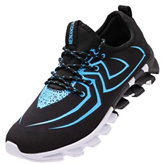 BRONAX Blue Tennis Shoes for Men Comfortable Casual Lightweight Cool Gym Walking Training Sports Sneakers Size 9