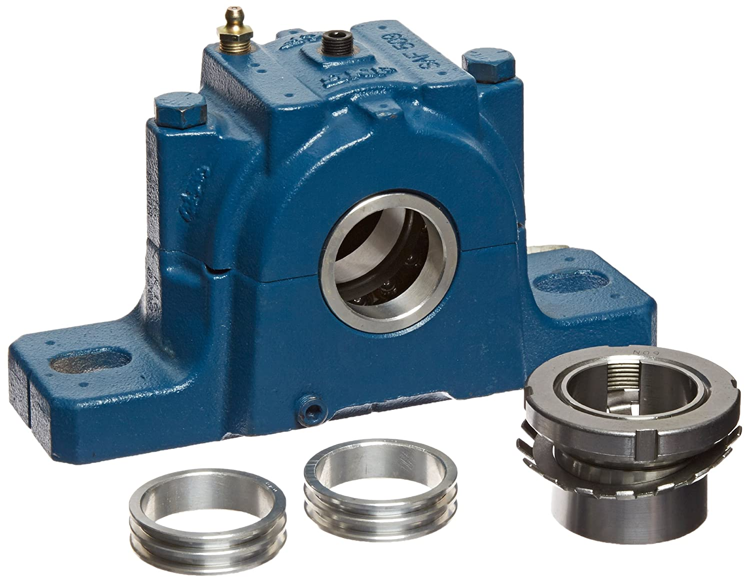 SKF SAF 1509X1.1 2 Ball Bearing Pillow Block 2 Bolts Adapter Mount Non Expansion Type Labyrinth Seals Cast Iron Inch 1 1 2 Bore 2 1 4 Base To Center Height 6 5 8 Bolt Hole Spacing Width