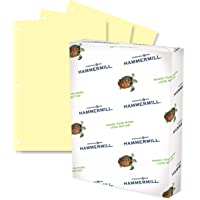 Hammermill Colored Paper, 20 lb Canary Printer Paper, 3 Hole - 1 Ream (500 Sheets) - Made in the USA, Pastel Paper…