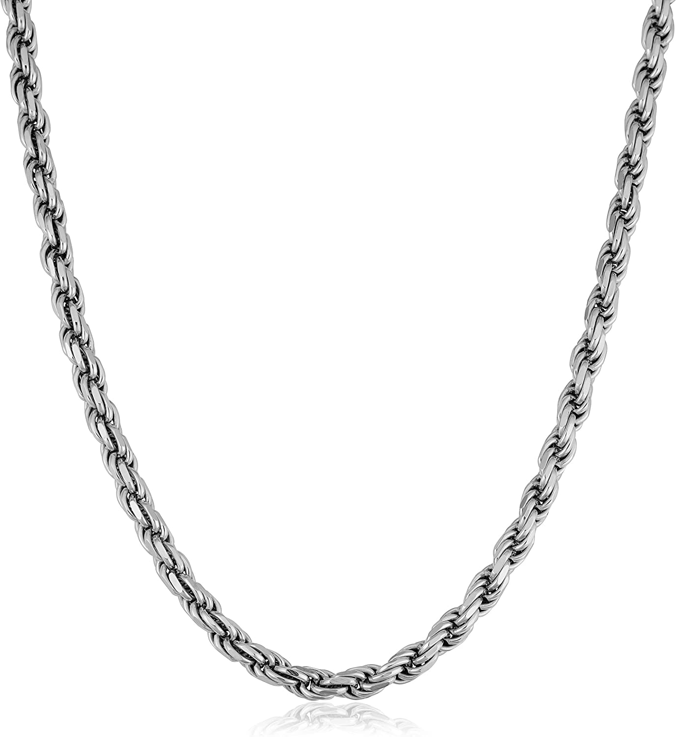 6MM 7.5MM,8.5MM- Mens Rope Chain Sterling Silver Rope Chain Necklace For Men 5MM Mens Rope Chain Bracelet Mens Italian 925 Sterling Silver Diamond Cut Rope Chain Necklace