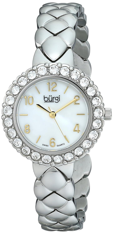 Burgiレディースbur113ssアナログディスプレイスイスクォーツシルバー腕時計 B00M32124G