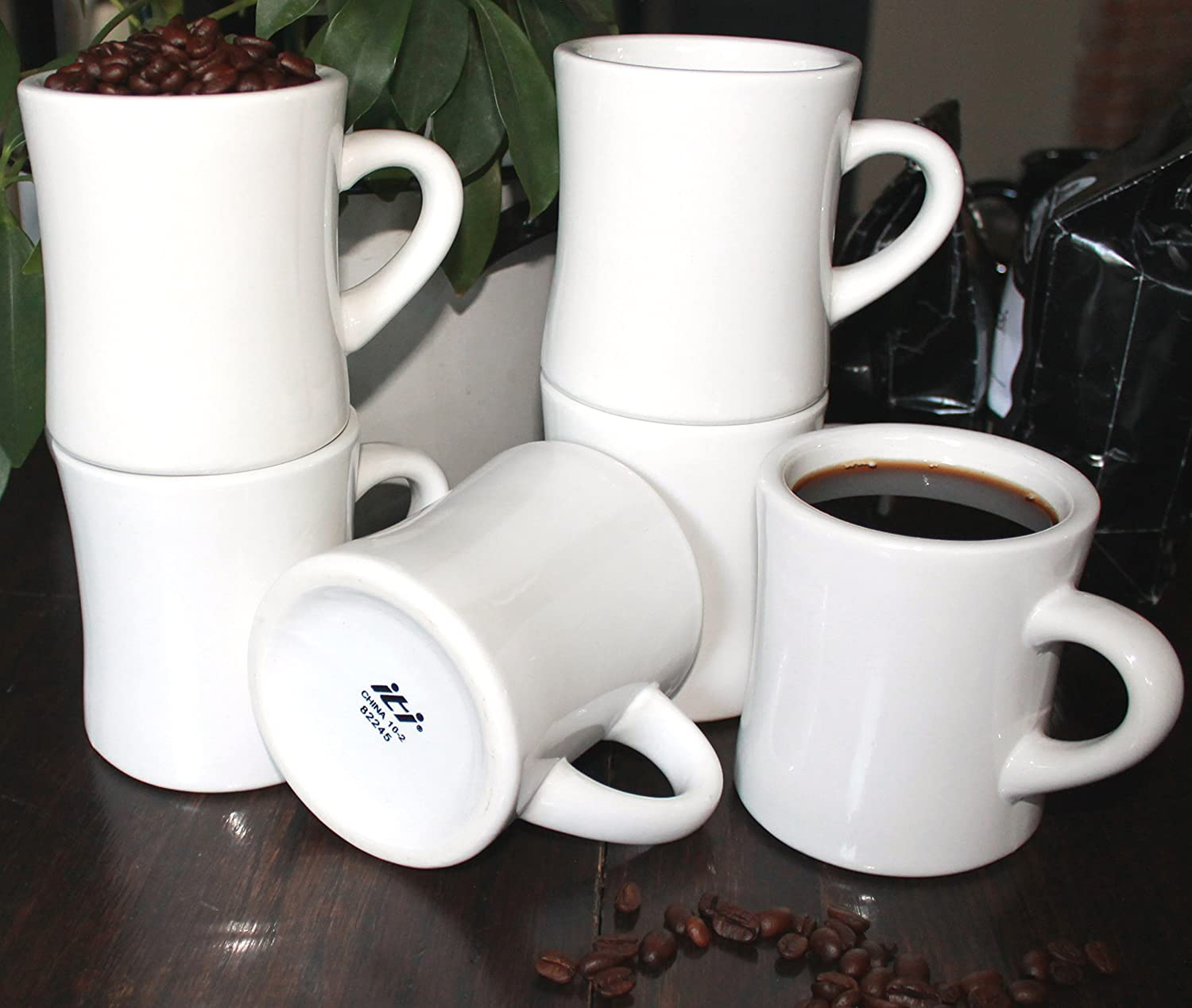 Check Amazon's Price on these white diner-style coffee mugs