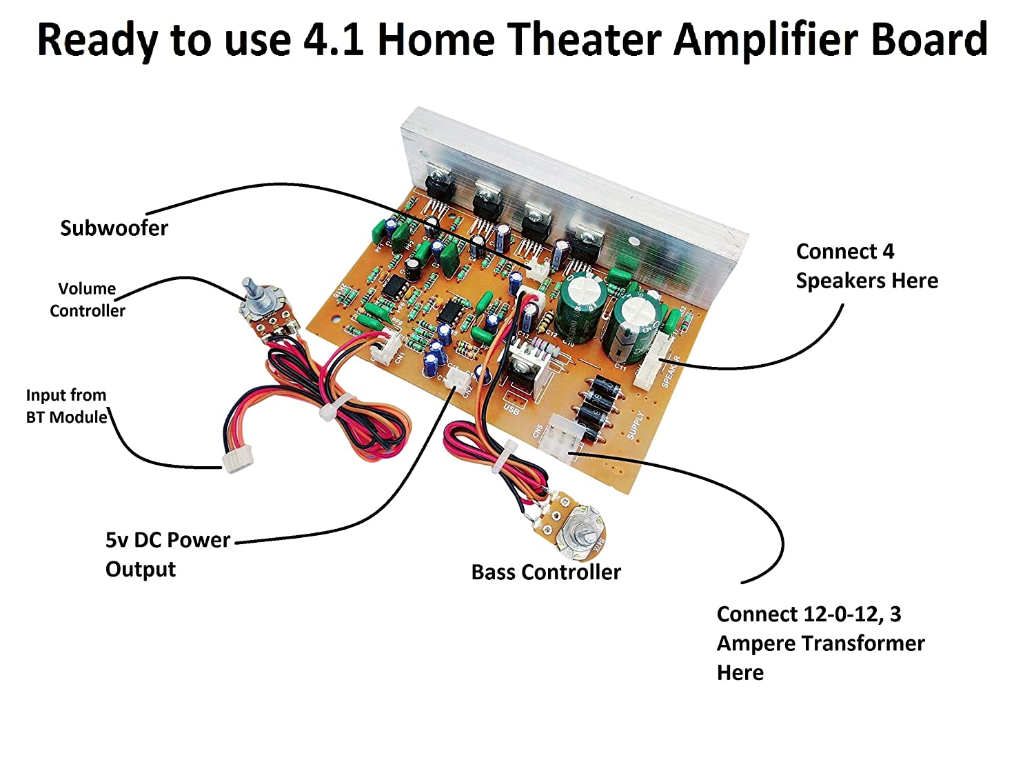 Erh India Ready To Use 4 1 Home Theater Amplifier Amazon In Electronics