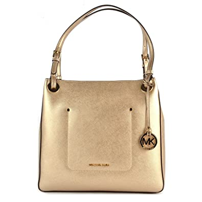 681c6d461d4b MICHAEL by Michael Kors Walsh Pale Gold Leather Medium Tote Bag one size Pale  Gold