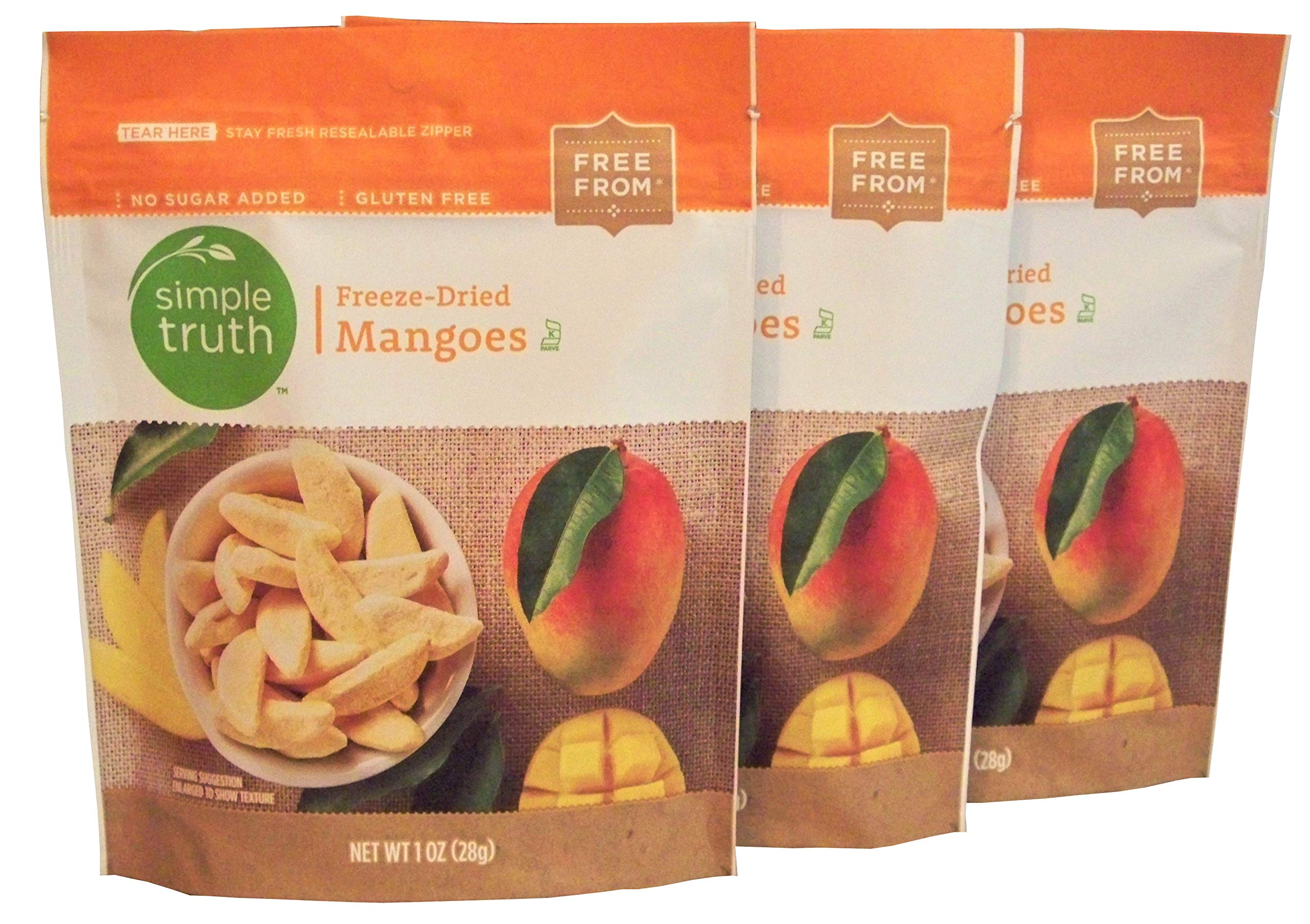 Simple Truth Freeze-Dried Mangoes 1 oz (3 Pack)