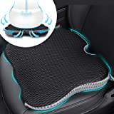 Car Coccyx Seat Cushion Pad for Sciatica Tailbone Pain Relief, Heightening Wedge Booster Seat Cushion for Short People Drivin