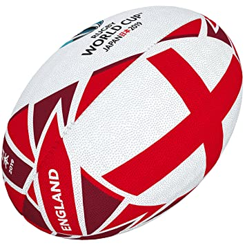 c83efb53a9f5cd Gilbert Unisex's Rugby World Cup Japan 2019 England Flag Ball,  Multi-Colour, Size