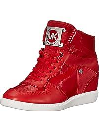 MICHAEL Michael Kors Women s Nikko High-Top Black Suprema Nappa Sport  Sneaker 21d64557cb