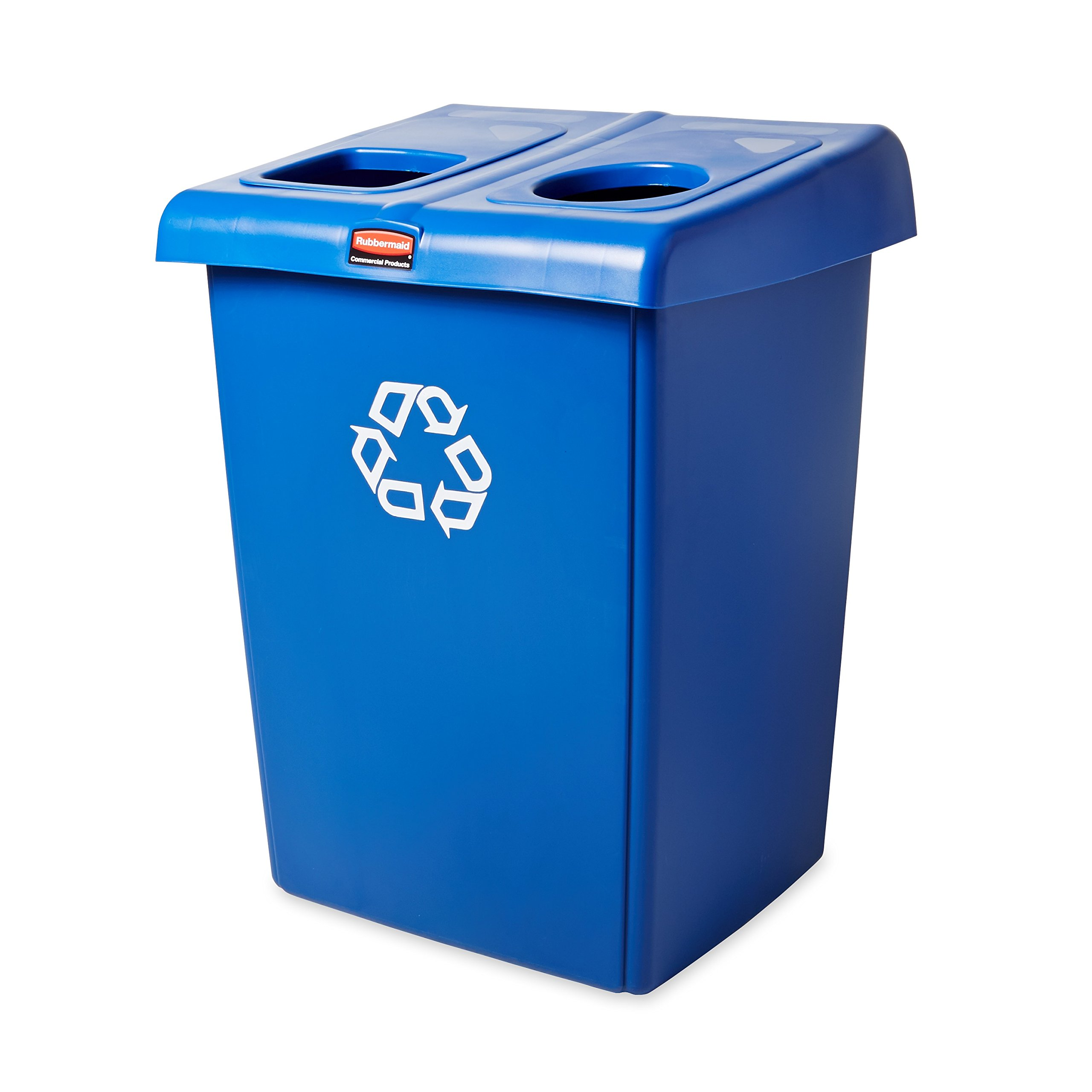 Rubbermaid Commercial 1792339 Glutton Recycling Station, 2-Stream, 46-Gallon, Blue by Rubbermaid Commercial Products (Image #4)