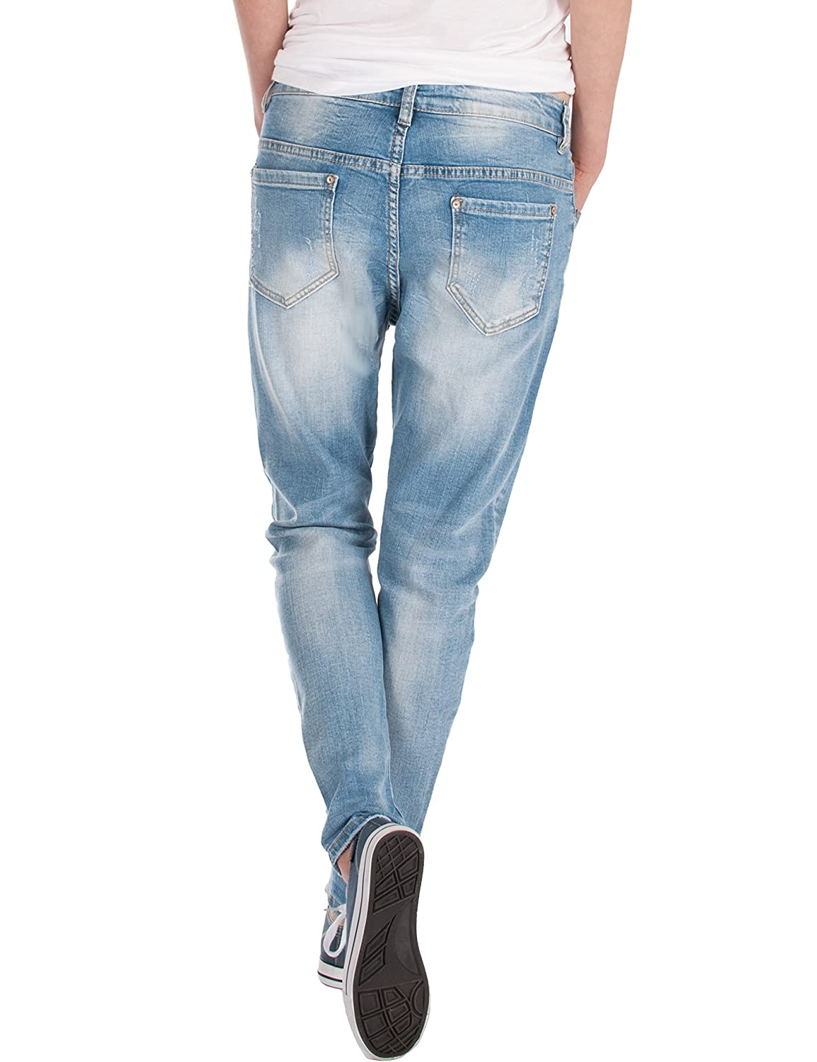 Fraternel Damen Jeans Hose Boyfriend Baggy Used Relaxed fit