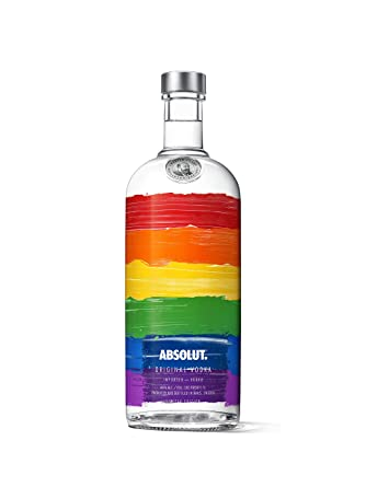Absolut Rainbow Colours Limited Edition Vodka, 1L