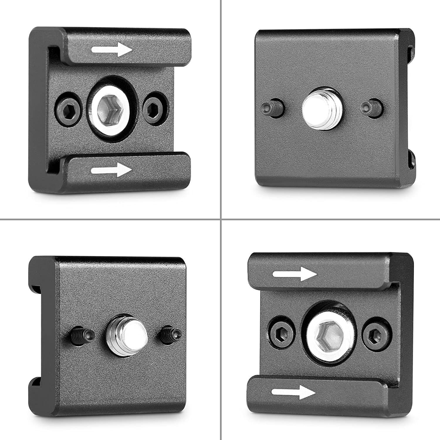SMALLRIG Cold Shoe Mount Adapter Bracket Hot Shoe with 1//4 Thread for Camera Cage Flash LED Moniter Pack of 2-2060