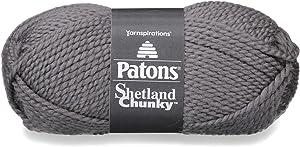 Patons Shetland Chunky Yarn, 3.5 oz, Oxford Grey, 1 Ball