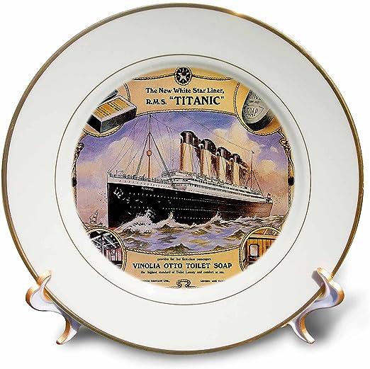 The Titanic White Star Line 4 Piece Wooden Coaster Set