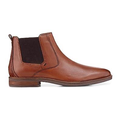 Cox Herren Chelsea Boots, Elegante Stiefel aus Leder in