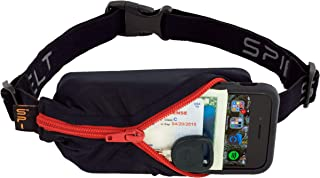 product image for SPIbelt Running Belt Original Pocket, No-Bounce Waist Bag for Runners, Athletes Men and Women, fits Smartphones iPhone 6 7 8 X, Workout Fanny Pack, Expandable Sport Pouch, Adjustable Black Red Zipper