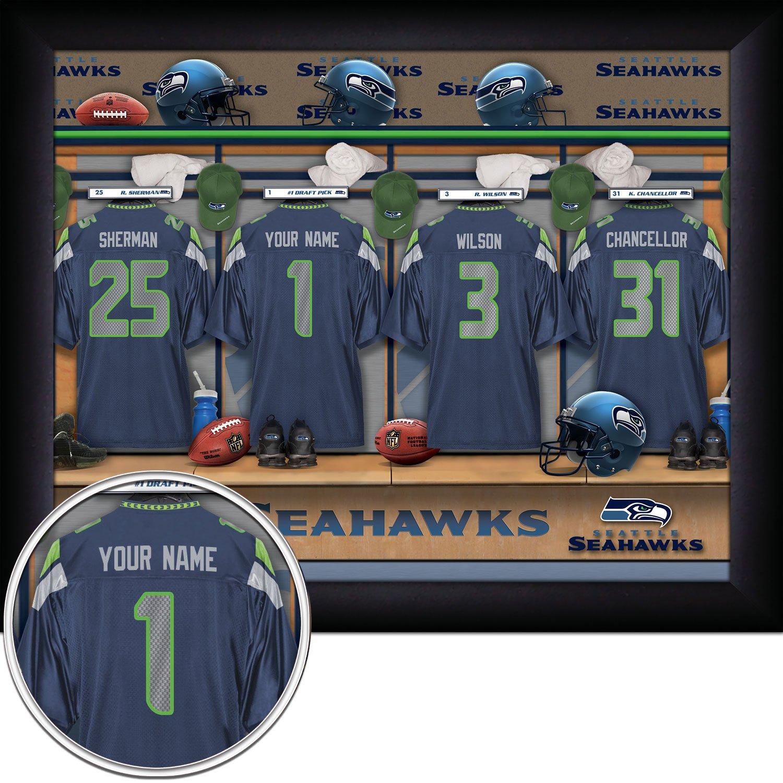 Amazon.com: Seattle Seahawks Personalized NFL Football Locker Room ...