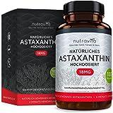 Astaxanthin 18 mg - Höchste Dosierung auf dem Markt - 6-Monats-Versorgung - 180 Kapseln - Laborgeprüft - Premium Qualität - Höchste Dosierung auf dem Markt