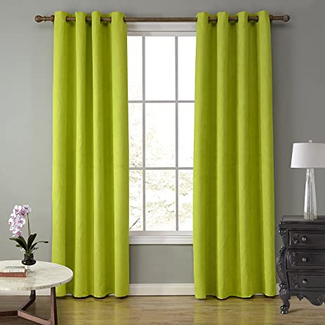 LOHASCASA Elegance Lightweight Blackout Curtains Clearance Full Length  Curtains 1 Panels (52 By 84 Inch