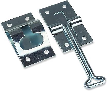 1, 6 6 Inch Metal T-Style Door Holder Entry Door Catch fits RV Trailer Camper Exterior Door Hold Hook /& Keeper Hardware Zinc Plated Steel