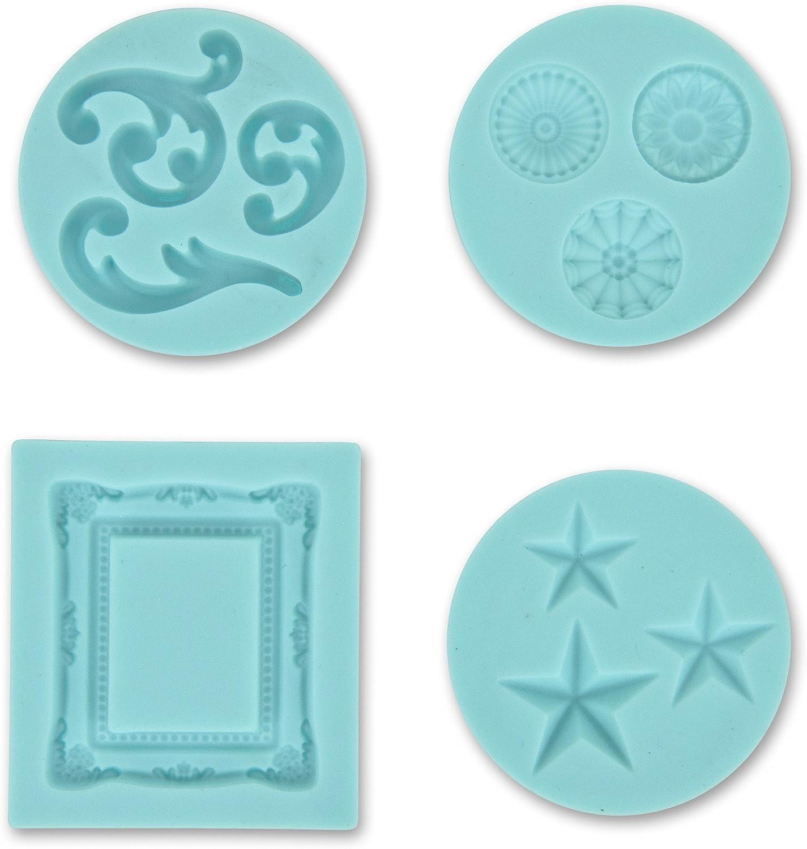 Martha Stewart Crafts Silicon Mold, Frame and Flourishes