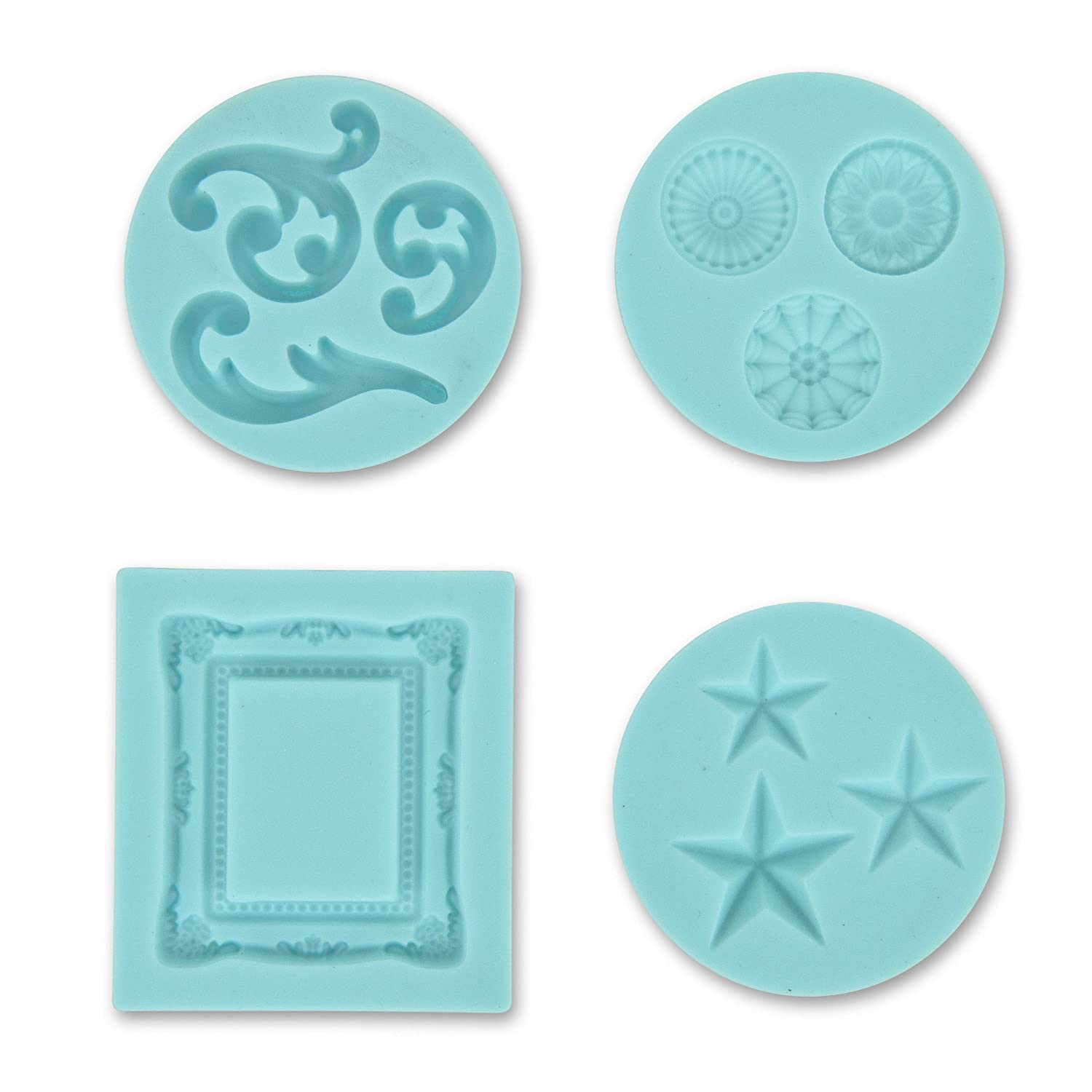 Martha Stewart Crafts Silicon Mold, Frame and Flourishes 43-00014