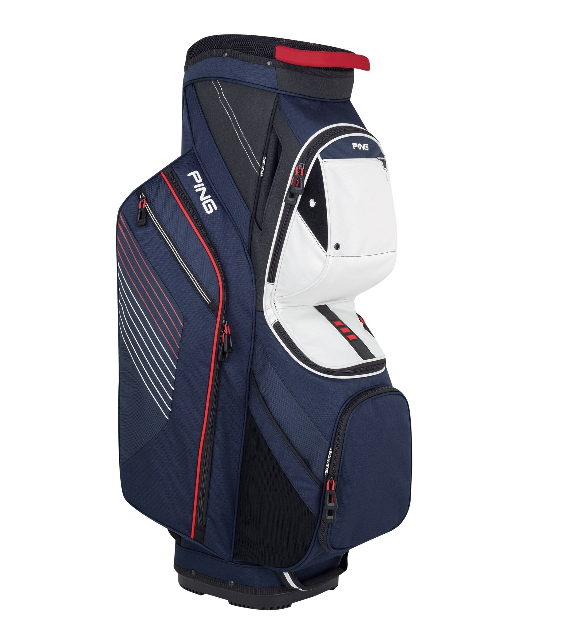NEW 2018 Ping Traverse Navy/White/Red 14-Way Top Golf Cart Bag by Ping (Image #1)