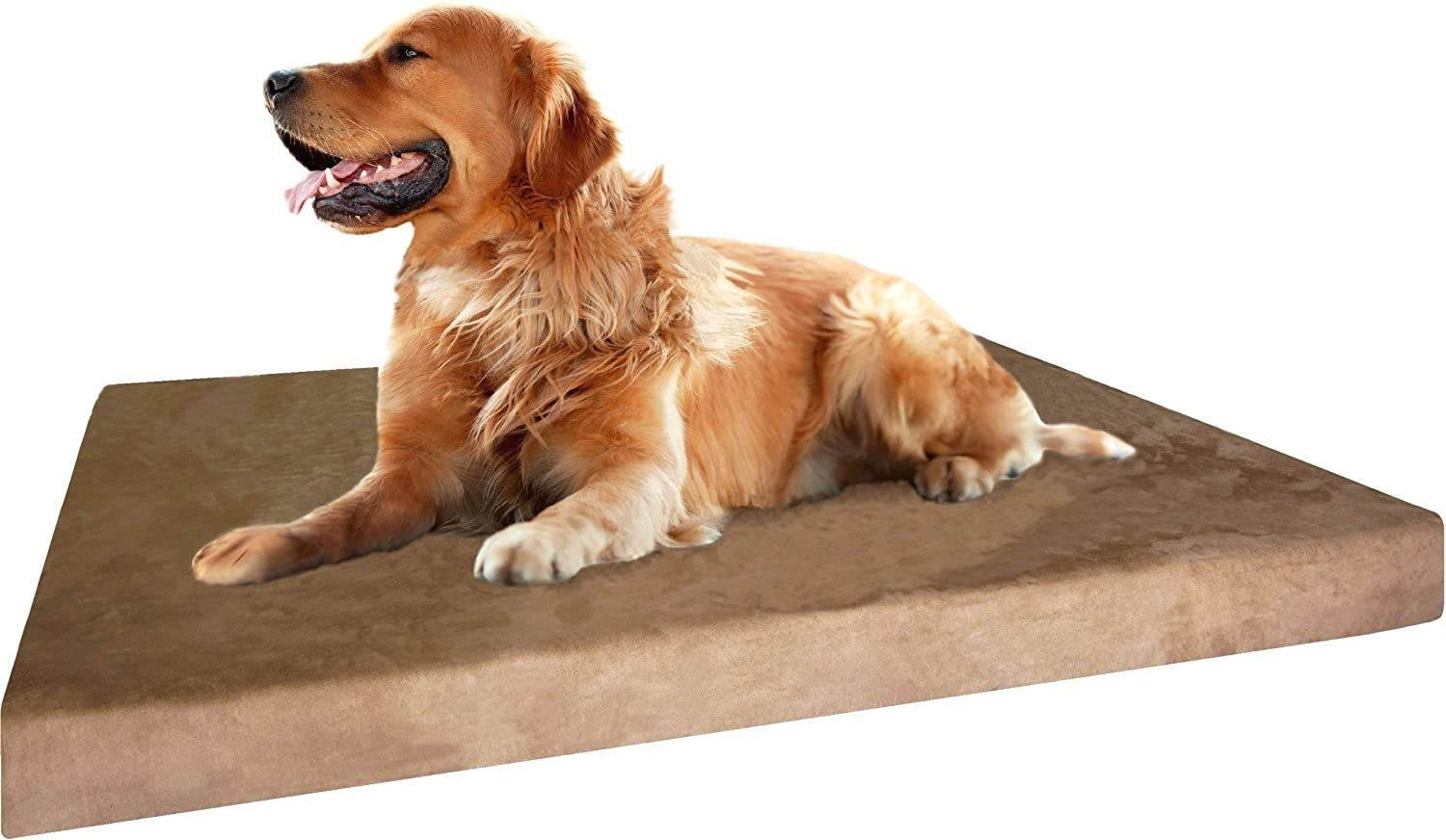 Dogbed4less Memory Foam Dog Bed | Orthopedic Ultra Plush Mattress, Thick Waterproof Lining and Machine Washable Cover, Multiple Sizes/Colors