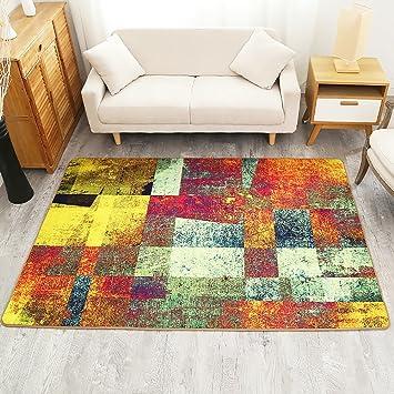 Abstrakte Malerei Teppich Wohnzimmer Fußtuch Tee Tisch Bodenmatte Rechteck Teppiche  Bunte ( Größe : 80*