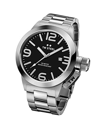 661ca0a0de56 Amazon.com  TW Steel Men s CB1 Analog Display Quartz Silver Watch ...