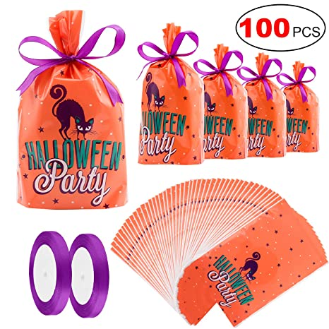 Amazon.com: Konsait - 100 bolsas de caramelos para fiestas ...