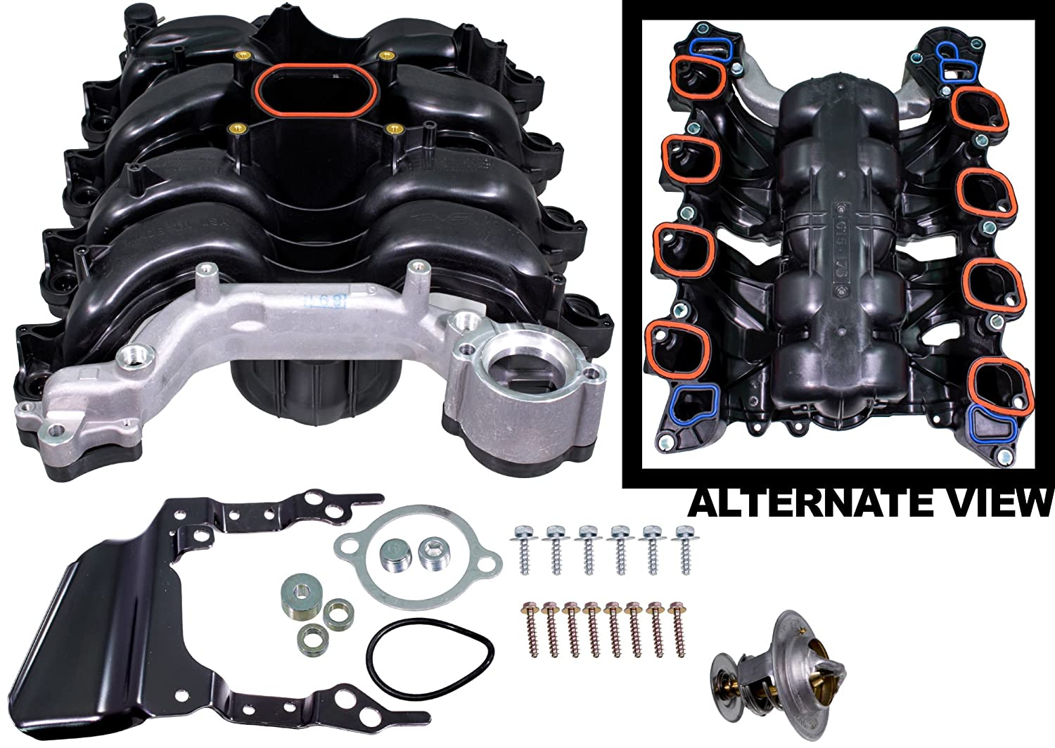 Amazon.com: APDTY 726286 Intake Manifold Kit w/Gaskets Fits 4.6L V8 Engine  99-04 Mustang 02 Explorer Mountaineer 00-11 Grand Marquis Crown Victoria  Town Car ...