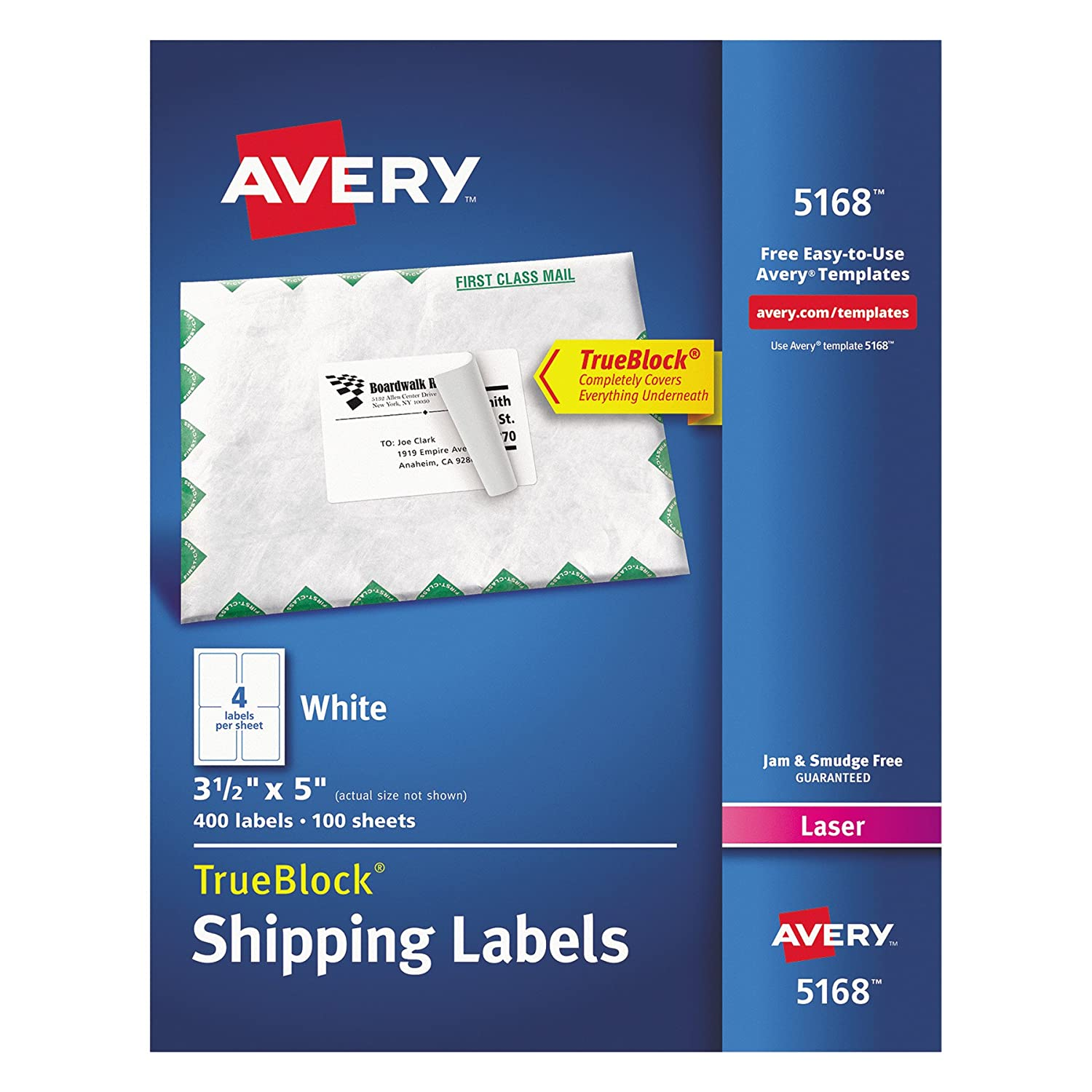 Amazon Avery Shipping Address Labels Laser Printers 400