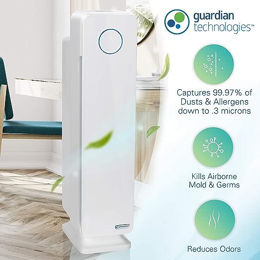 GermGuardian ac5350 W Elite 4 en 1 True HEPA purificador de aire ...