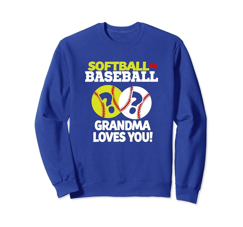 Gender Reveal Shirt Grandma Softball or Baseball Sweatshirt-alottee gift