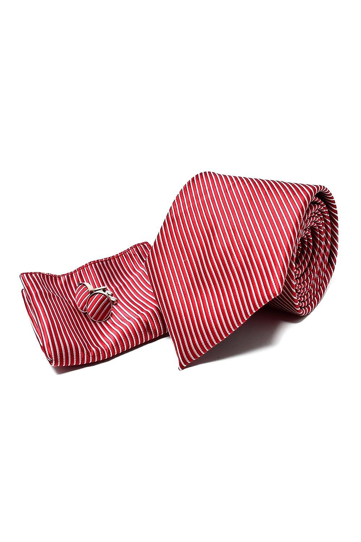 Corbata de hombre, Pañuelo de Bolsillo y Gemelos Rojo a Rayas ...