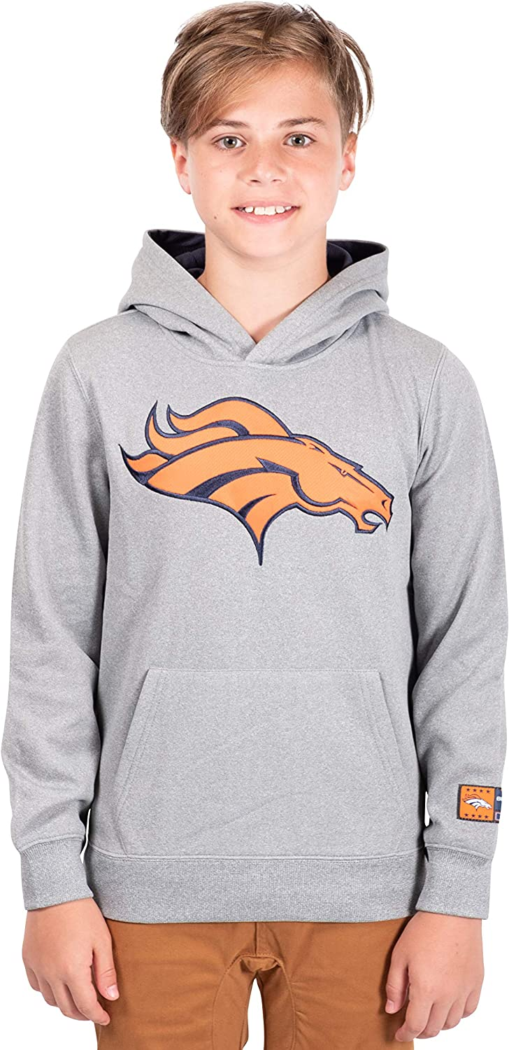 Ultra Game NFL teen-boys Extra Soft Poly Dry Fleece Pullover