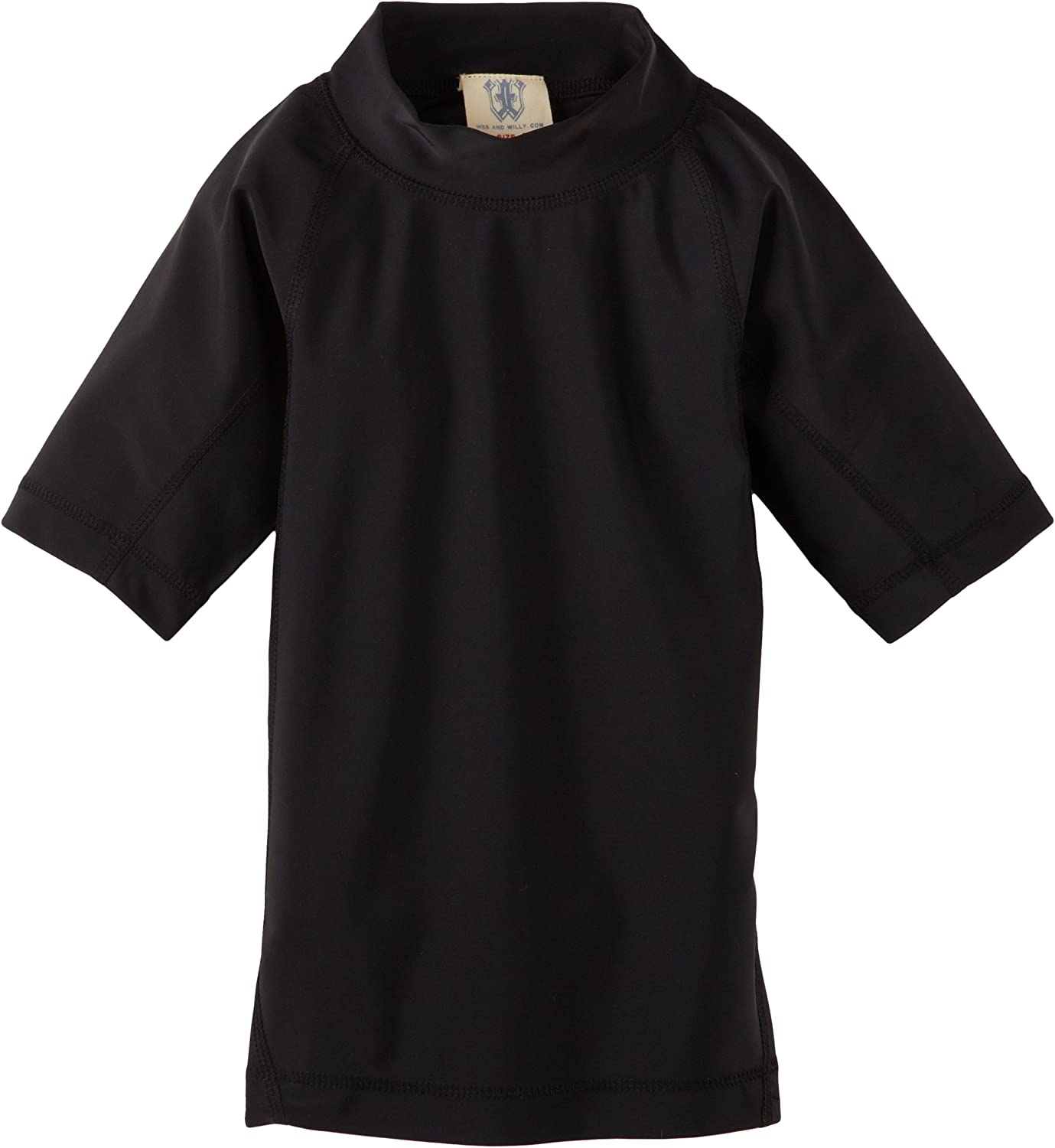 Wes and Willy Little Boys Solid Rash Guard 3626J
