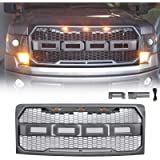 ALL4ROLL Raptor Grey Grill Fit for F150 2009-2014, Front Grille Compatible with Ford F150, Including XL XLT Lariat and…