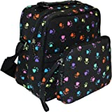 Sachi Insulated Convertible Crossbody Canvas Tote (PawPrint)