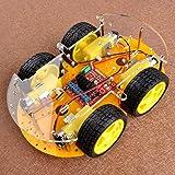 REES52 Robot Car Kit for Arduino, 4 Wheel Bluetooth Utility Vehicle Intelligent Robotics L298N Motor Driver Robot Smart Car kit