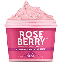LILY SADO ROSE BERRY Rose Water & Berries Pink Clay Mask with White Tea & Exfoliating...