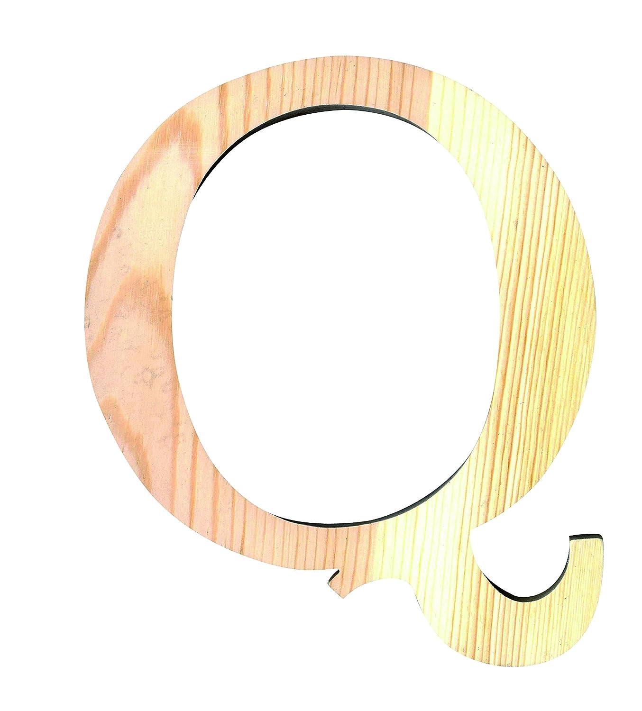 Artemio 14001097 Wooden Letter Q Upper Case-11.5 Cm