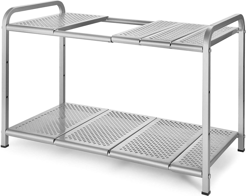 2 Tiers Under-sink Organizers Expandable Storage Space Saving for Kitchen Garden Home Telescopic Stand Storage Shelf