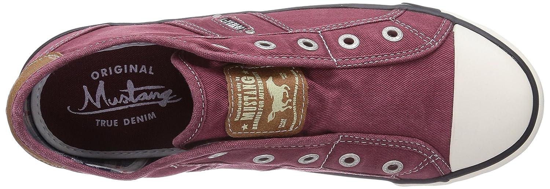 Mustang Mujeres Zapatos llanos rojo, (bordo) 1099-401 55: Amazon.es: Zapatos y complementos