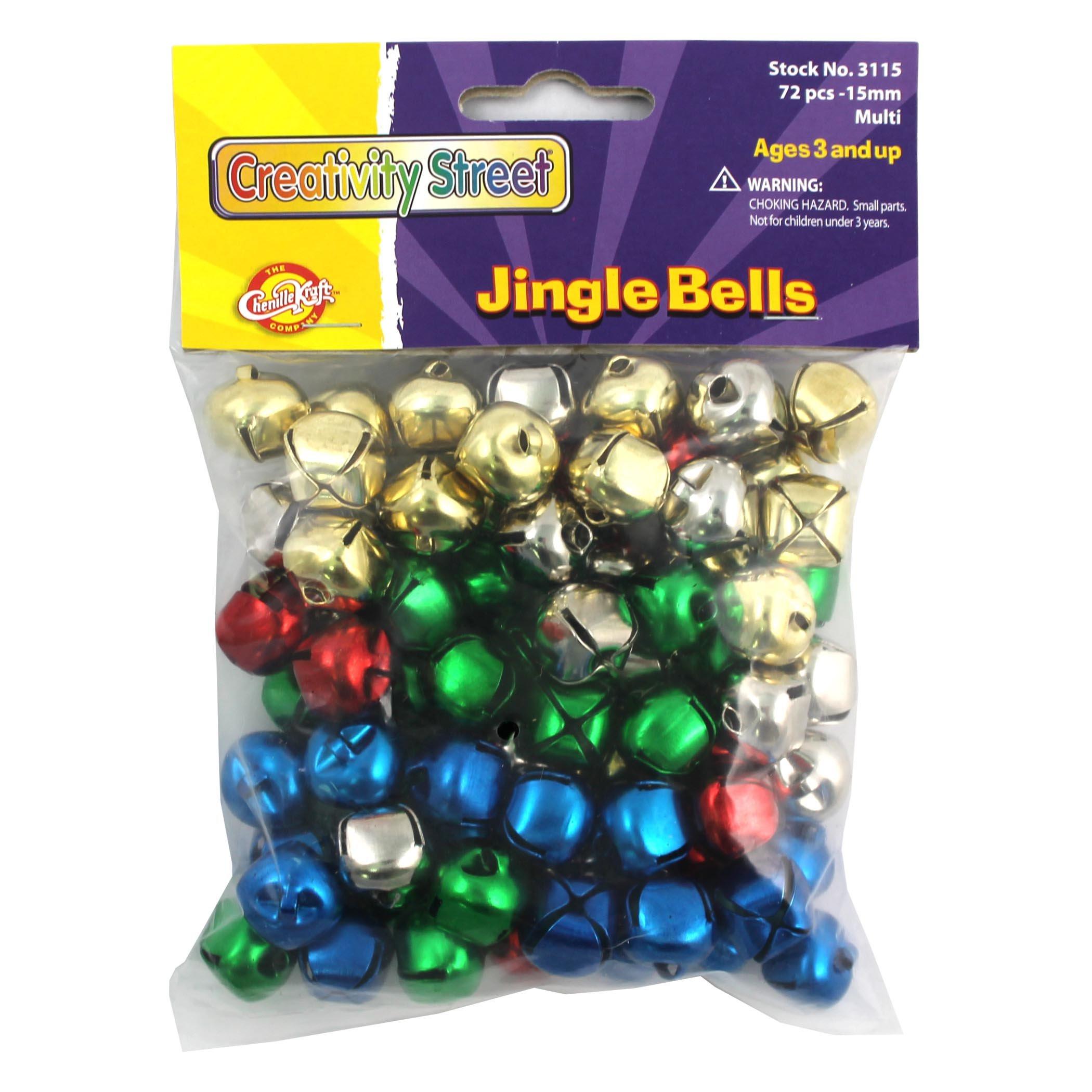 Chenille Kraft CK-3115 Jingle Bells, 1'' Height, 4.1'' Wide, 4.1'' Length, 15 mm, Multicolored (72 per Package)